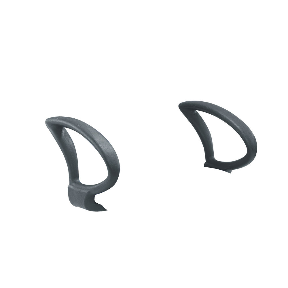 Jemini Black Fixed Loop Arms, Pack of 2