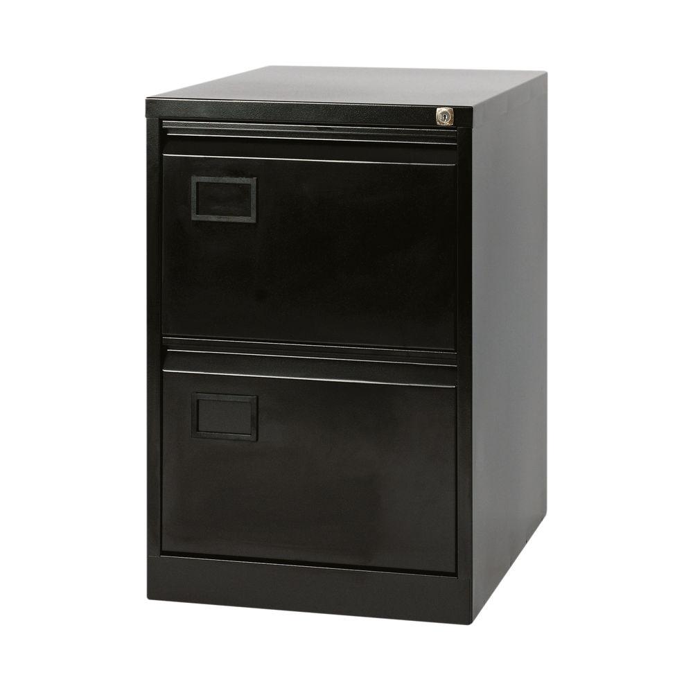 Jemini 711mm Black 2 Drawer Filing Cabinet