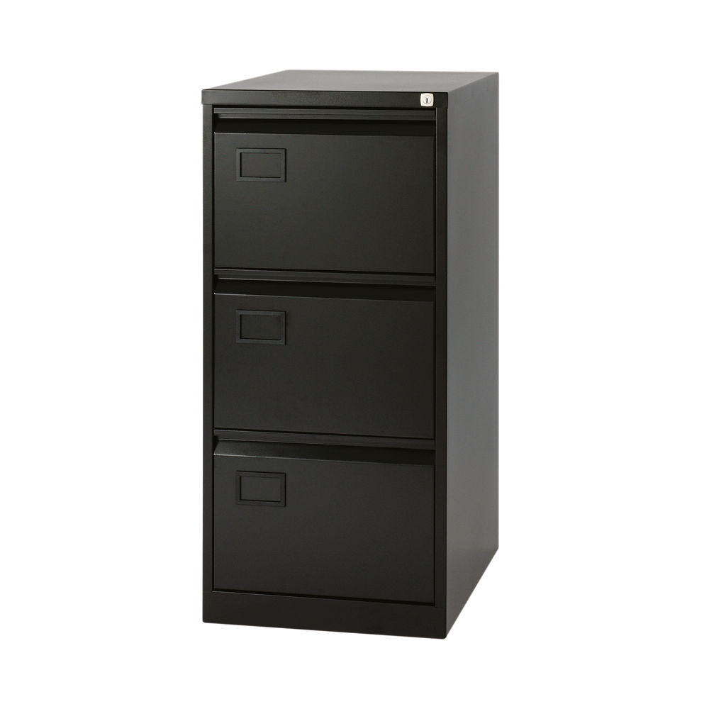Jemini 1016mm Black 3 Drawer Filing Cabinet