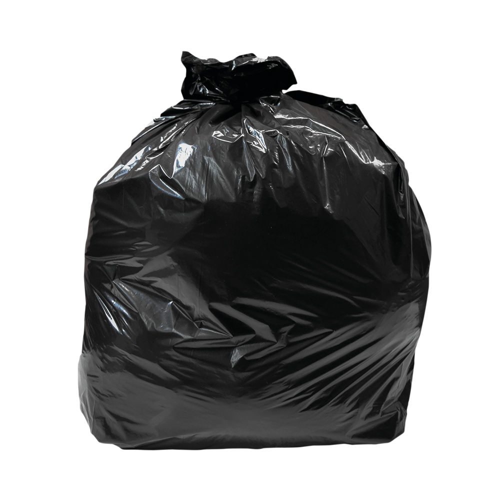 Extra Heavy Duty Polythene Refuse Sack 20kg 457x737x965mm Black (Pack of 200) GR0010