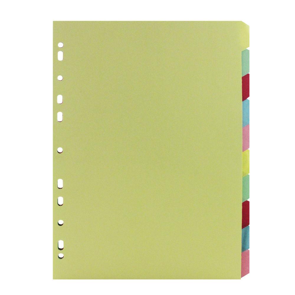 Green A4 10-Part Divider - ST05446