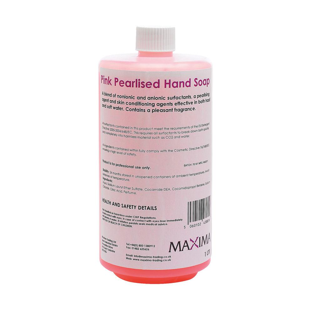 1 Litre Pink Hand Soaps, Pack of 2 - KSEMAXPS1