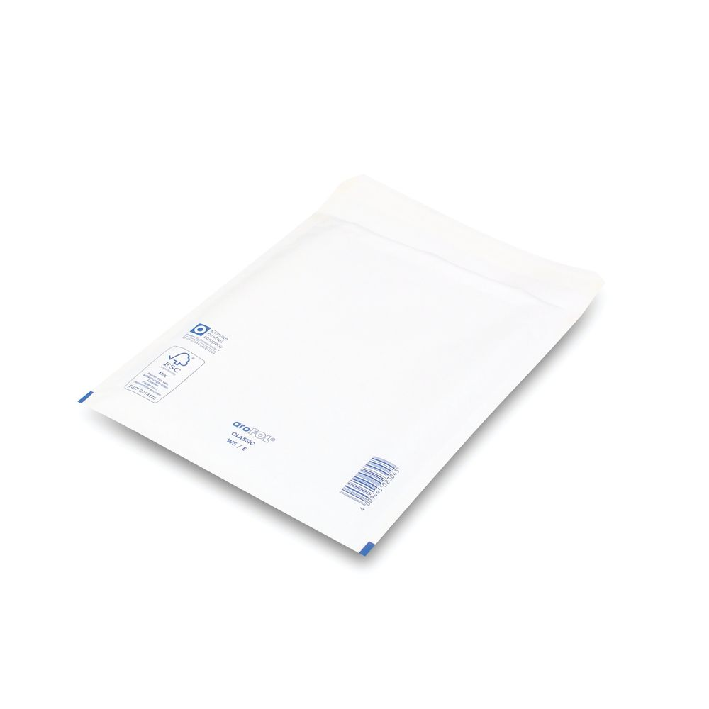 Bubble Lined Envelopes Size 5 220x265mm White (Pack of 100) XKF71450