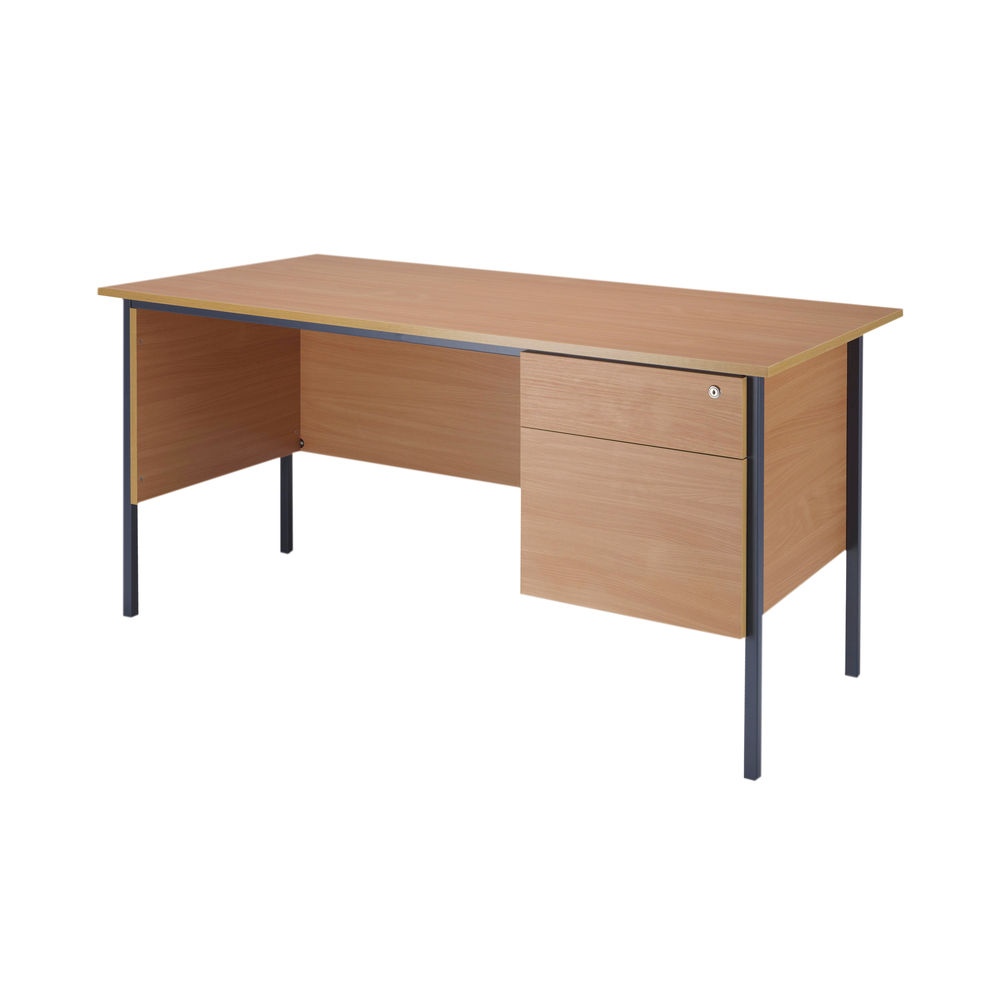 Serrion 1500mm Bavarian Beech 2 Drawer Pedestal 4 Leg Desk