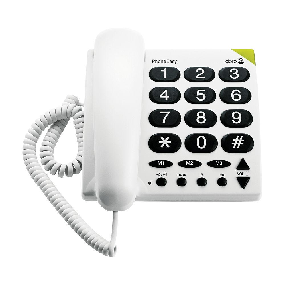 Doro Big Button Telephone White 311C