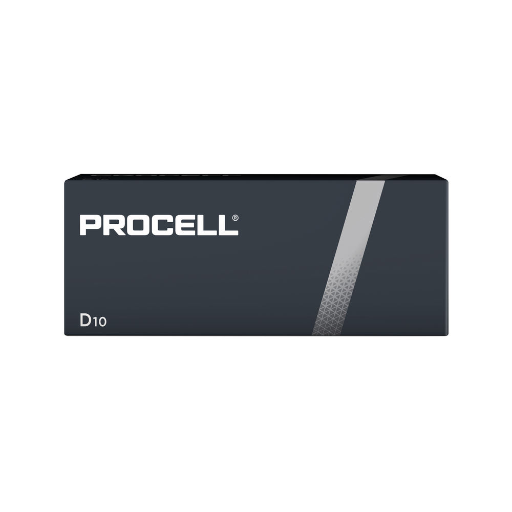 Duracell Procell D Batteries, Pack of 10 - 5007610