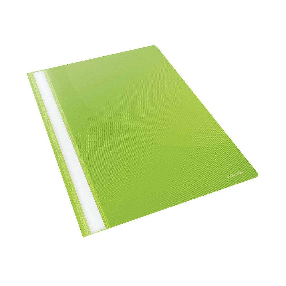 Esselte A4 Green VIVIDA Plastic Report Files (Pack of 25) – 28317