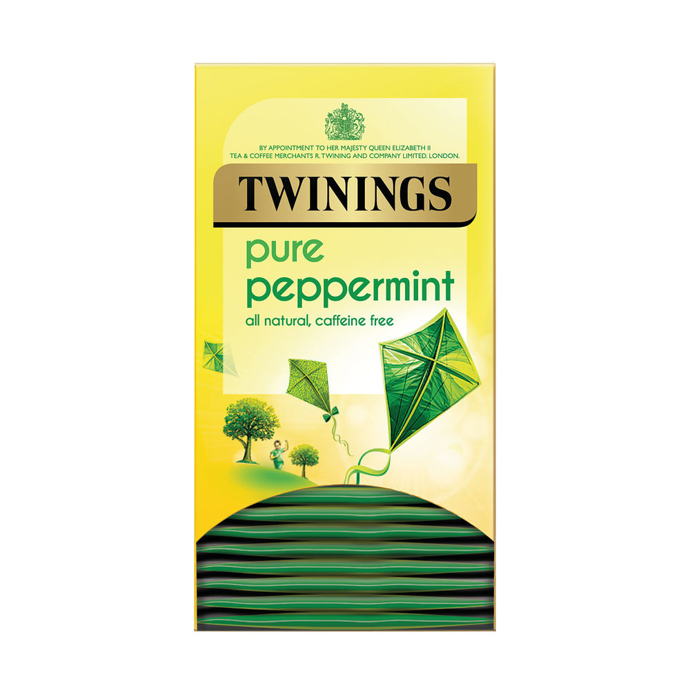 Twinings Pure Peppermint Herbal Infusion Tea Bags (Pack of 20)