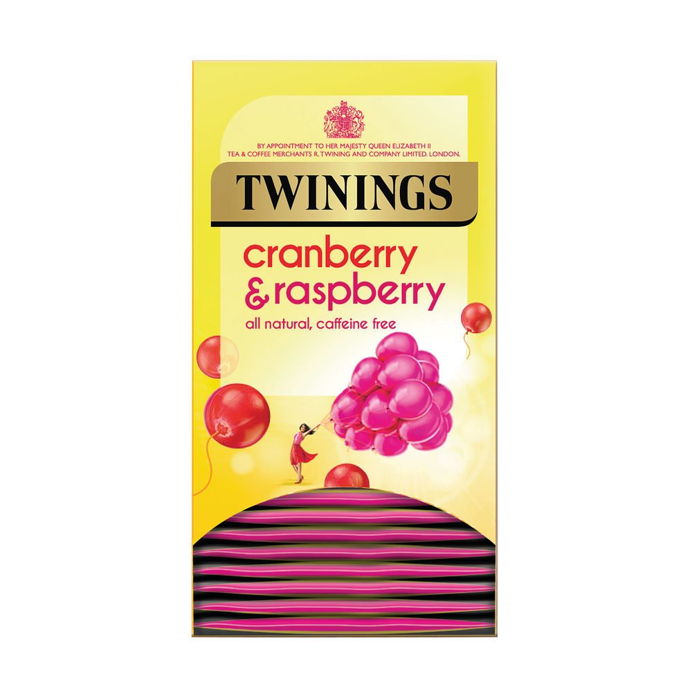 Twinings Cranberry, Raspberry and Elderflower Tea Bags, Pack of 20 - F14381