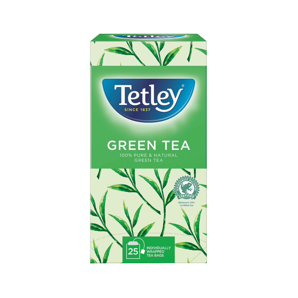 Tetley Pure Green Tea Bags, Pack of 25 - A08012
