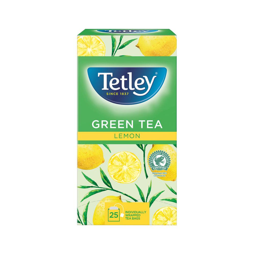 Tetley Lemon Green Tea Bags, Pack of 25 - A06680
