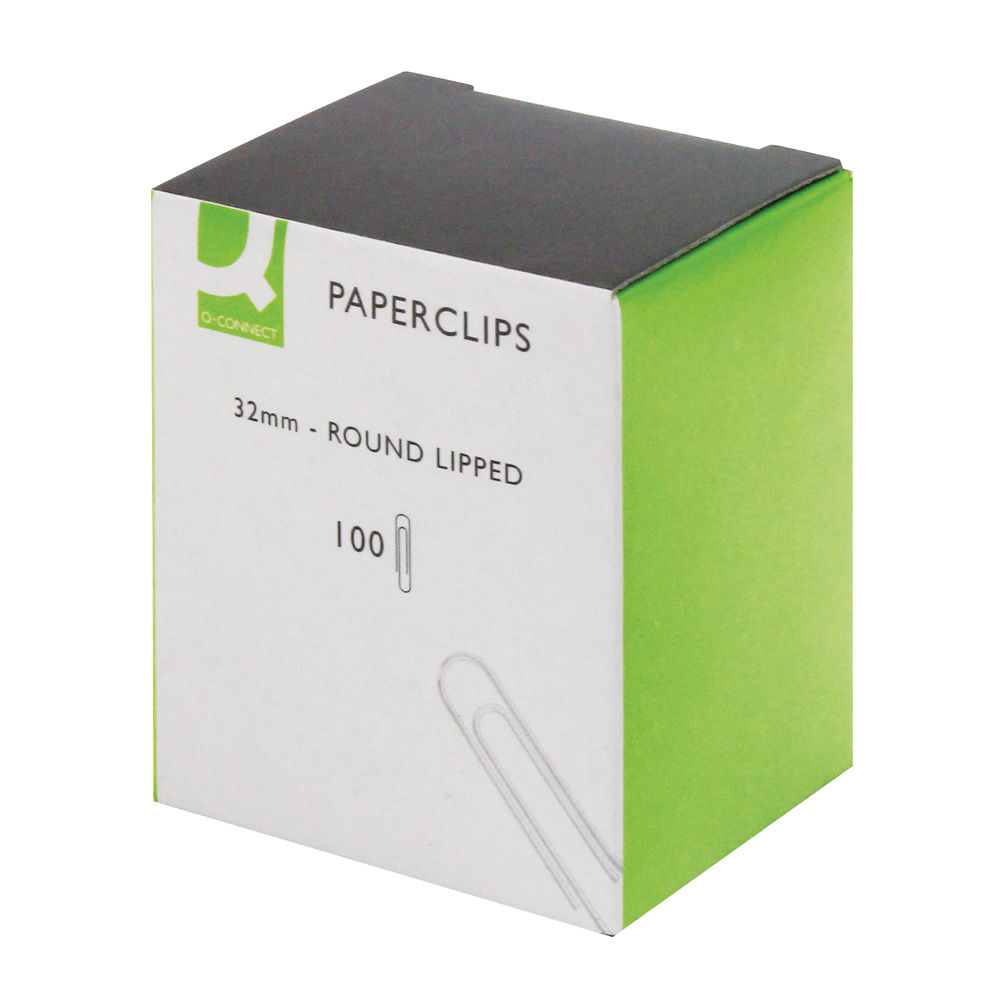 Q-Connect 32mm Lipped Paperclips, Pack of 1000 - KF01316Q