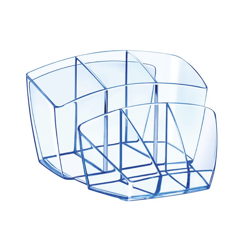 CEP Ice Blue Desk Tidy - 580I BLUE