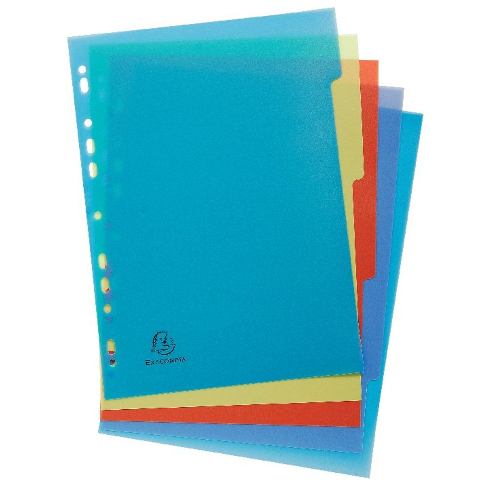 Exacompta A4 Forever Recycled Polypropylene 5 Part Dividers - 2705E