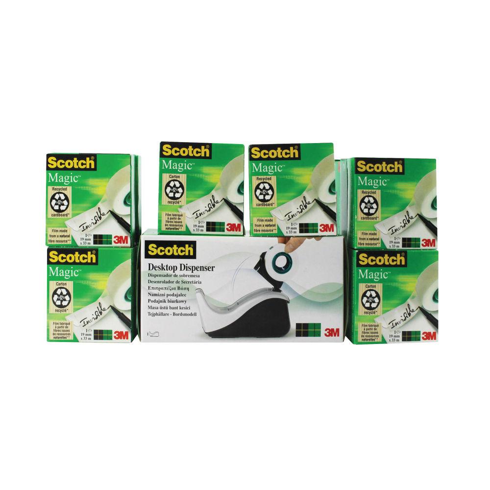 Scotch 19mm x 33m Magic Tape (Pack of 16) - 8-1933R16060