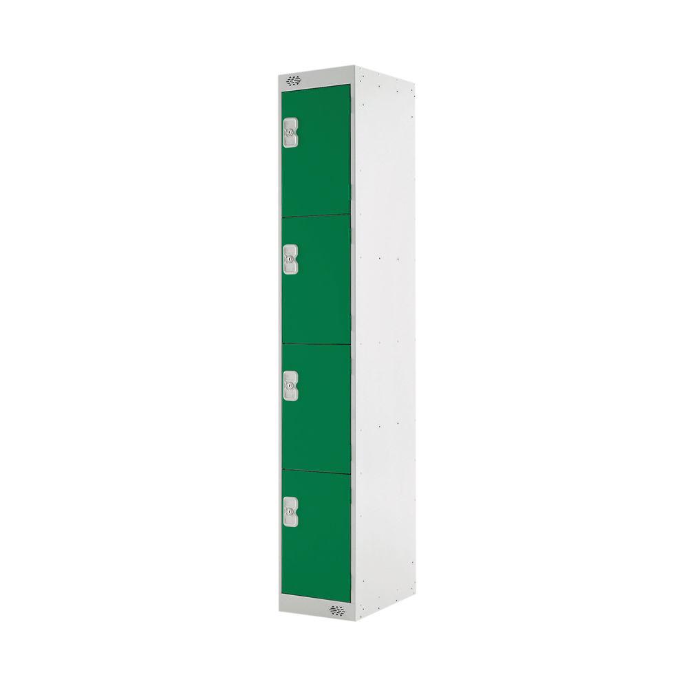 Four Compartment D450mm Green Locker - MC00058