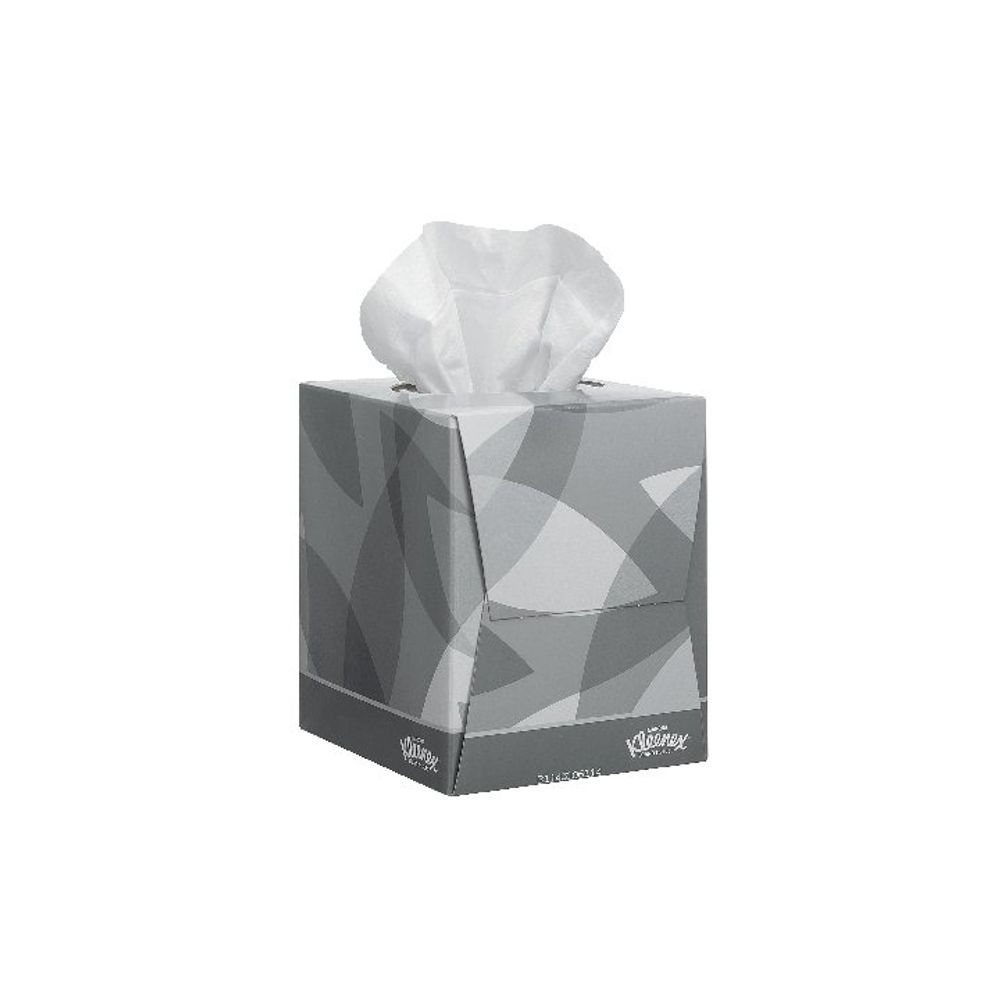 Kleenex Facial Tissue Cube, 90 Sheets, Pack of 12 - 8834