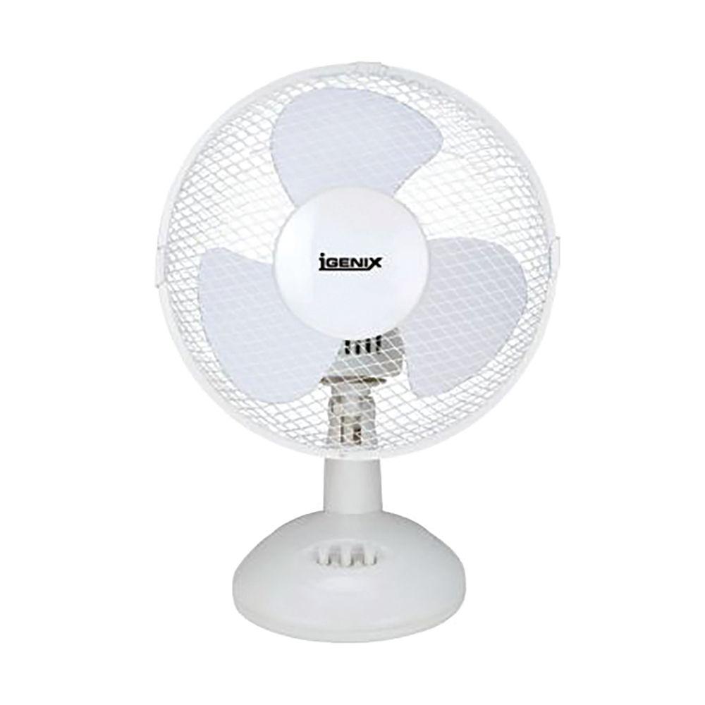 Igenix 2 Speed Desktop Fan 9 Inch (229mm) White DF9010
