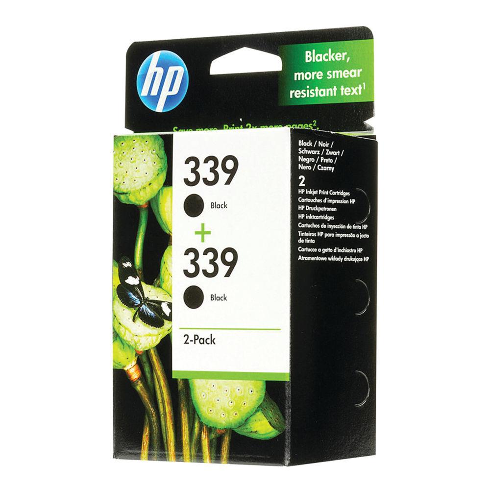 Hewlett Packard 339 C9504EE Black Ink Cartridge (Pack of 2) 1213492