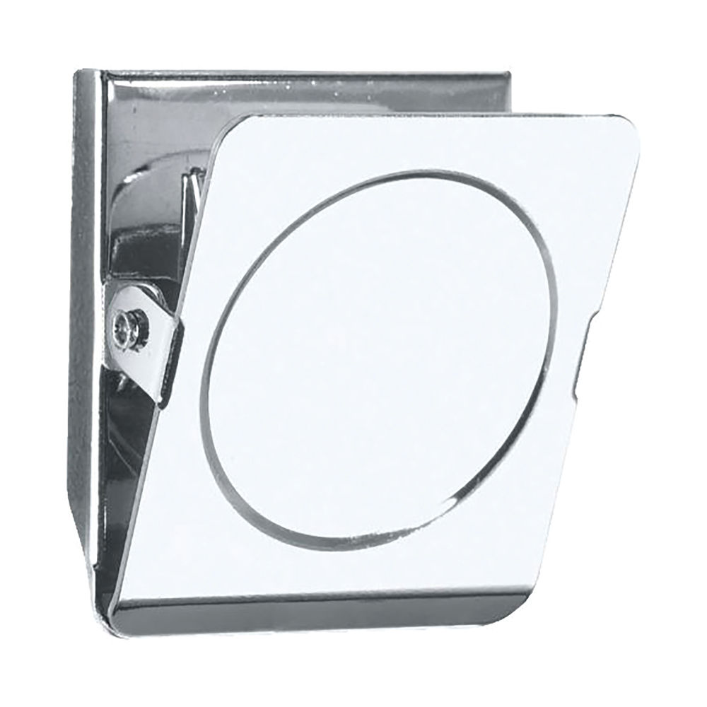 Staples Magnetic Clips Square 45mm 20 Sheet Capacity Chrome Plated Steel Silver 8850876