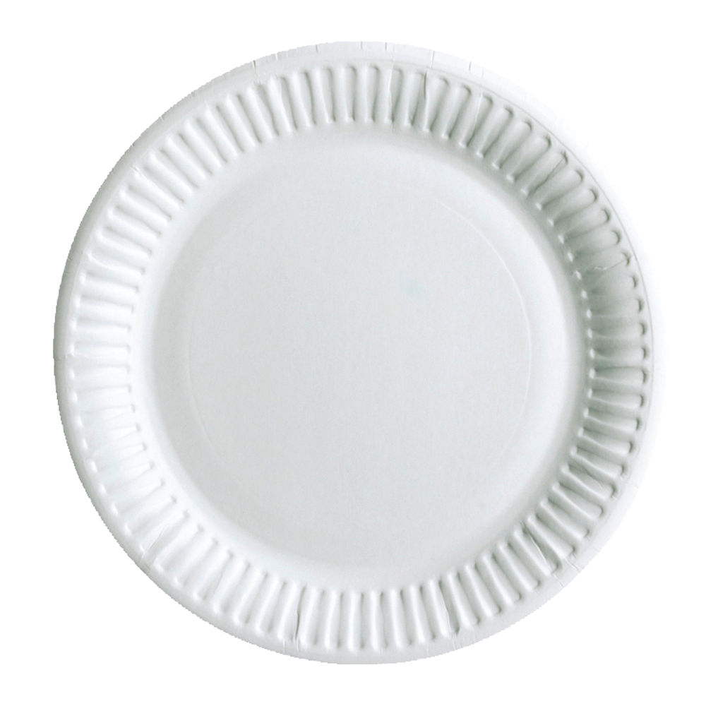 Staples Paper Plate Disposable 9 Inch White (Pack of 50) 8851511