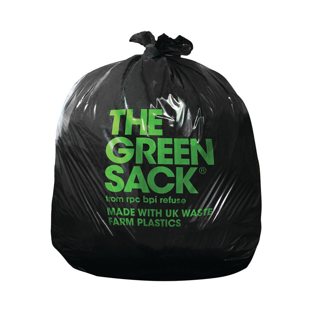 The Green Sack Heavy Duty Refuse Sacks, Pack of 200 - KMAXHD