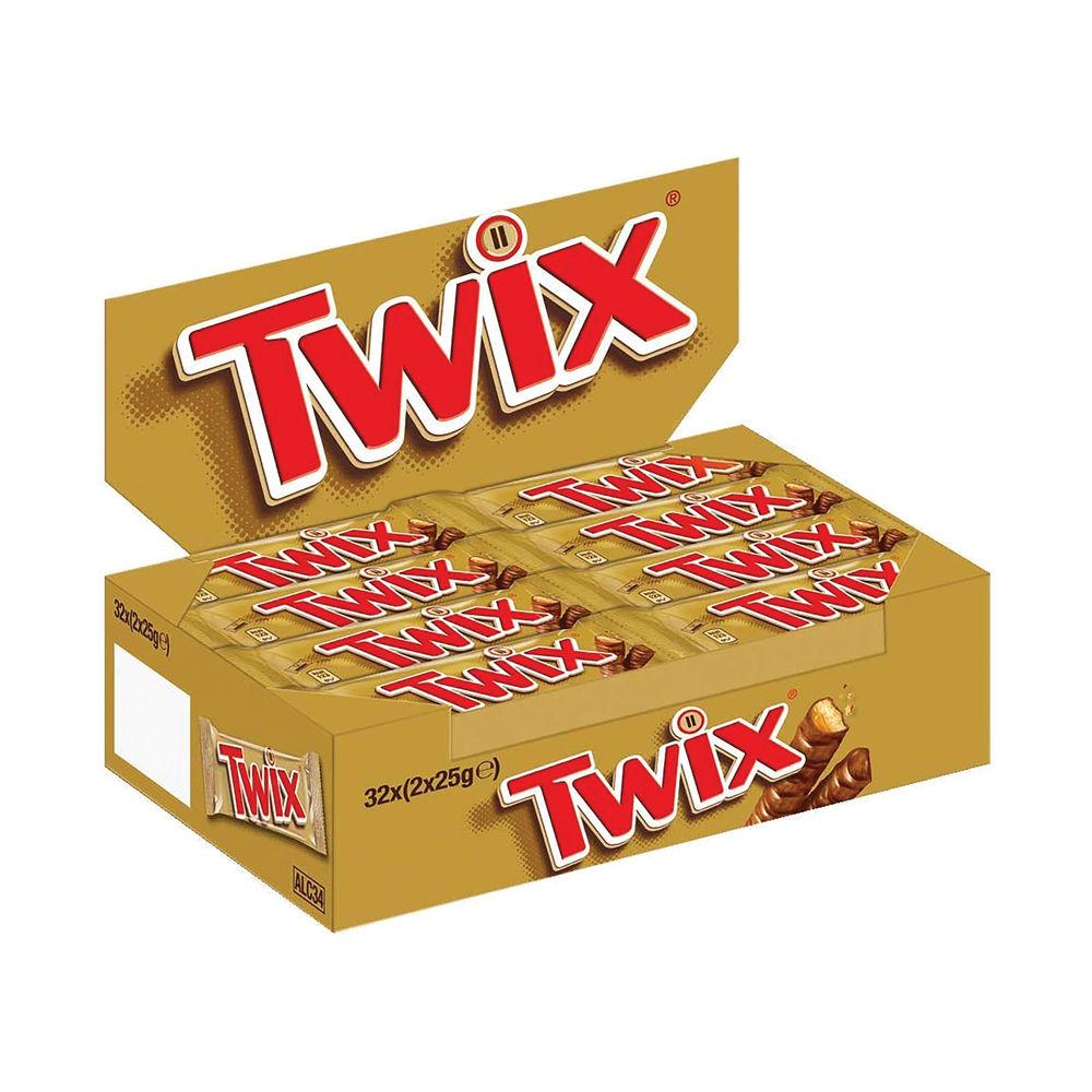 Twix Bars 25g, Pack of 32 - 100560
