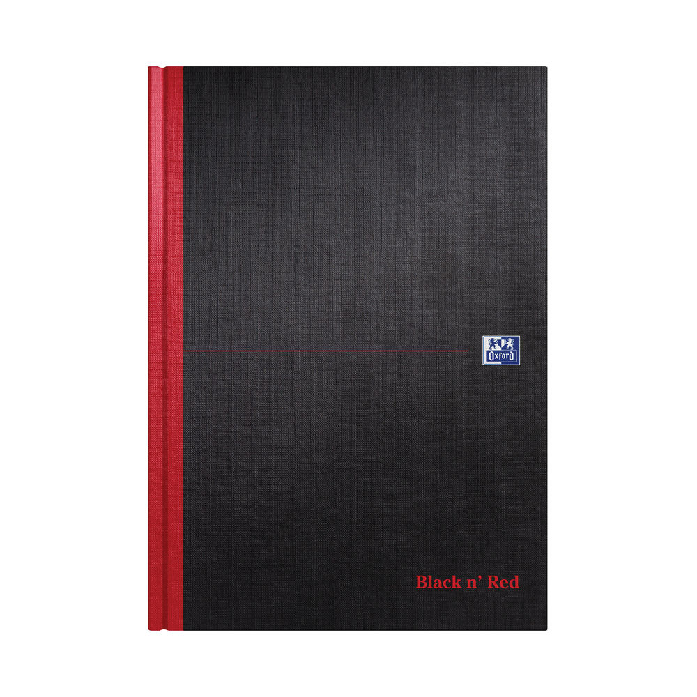 Black n' Red A4 Casebound A4 Double Cash Book, 192 Pages - Pack of 5 - K66177