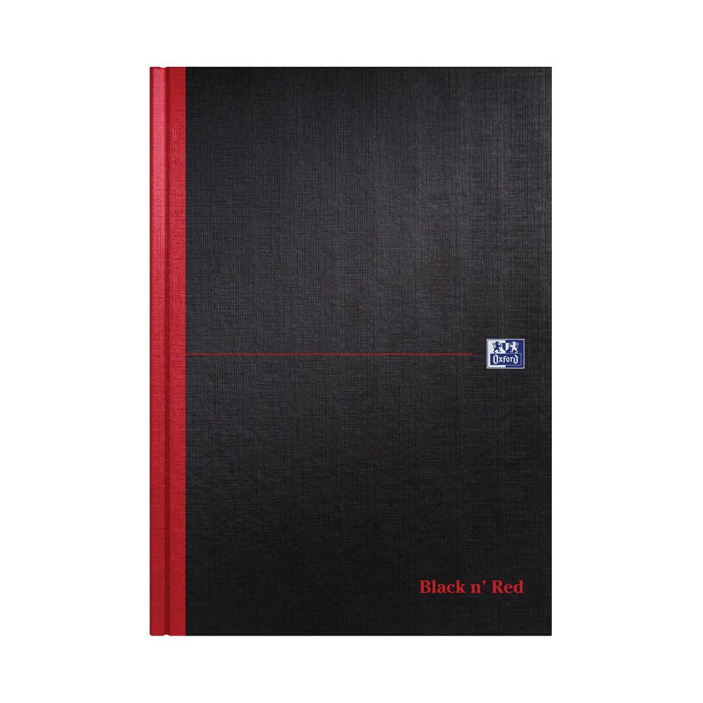 Black n Red A4 Casebound A4 Single Cash Book, 192 Pages - Pack of 5 - M66176