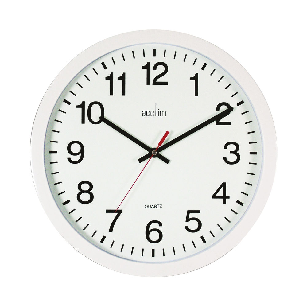 Acctim Controller White Silent Wall Clock - 93/704