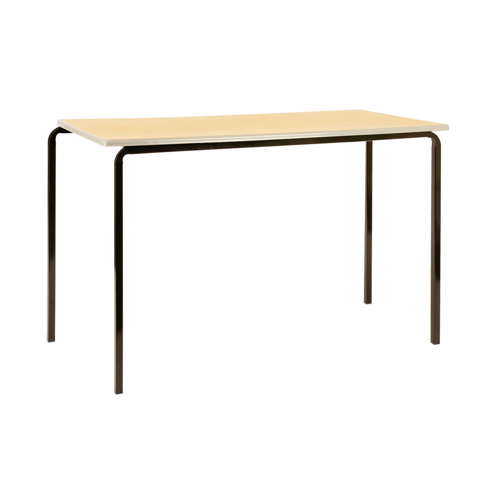Jemini W1100 x D550 x H710mm Beech/Silver MDF Edged Class Tables, Pack of 4