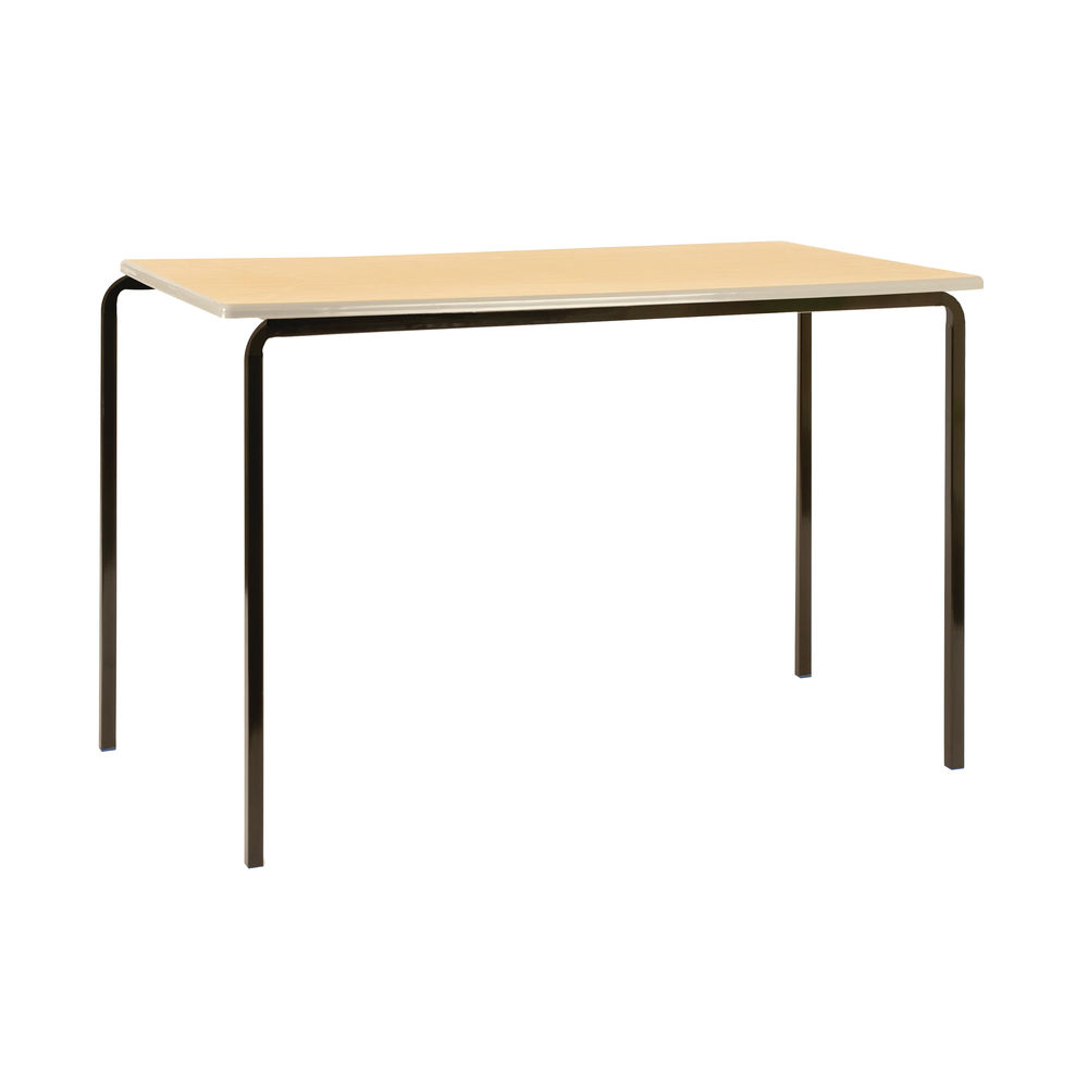 Jemini W1200 x D600 x H710mm Beech/Silver MDF Edged Class Tables, Pack of 4