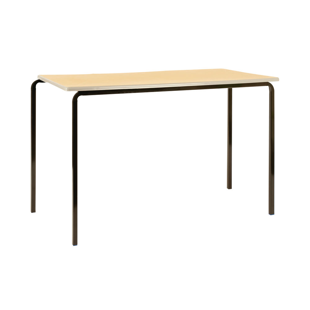 Jemini W1100 x D550 x H760mm Beech/Silver MDF Edged Class Tables, Pack of 4