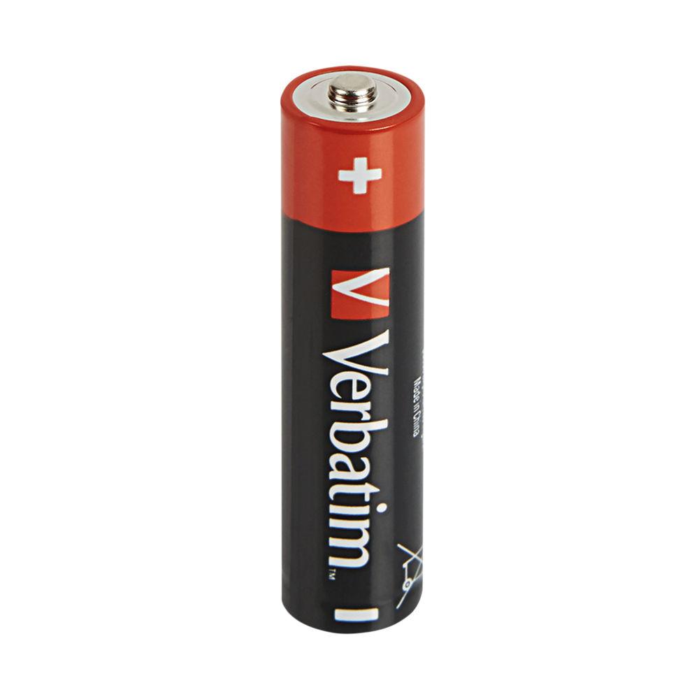 Verbatim AAA Alkaline Batteries (Pack of 4) 49500