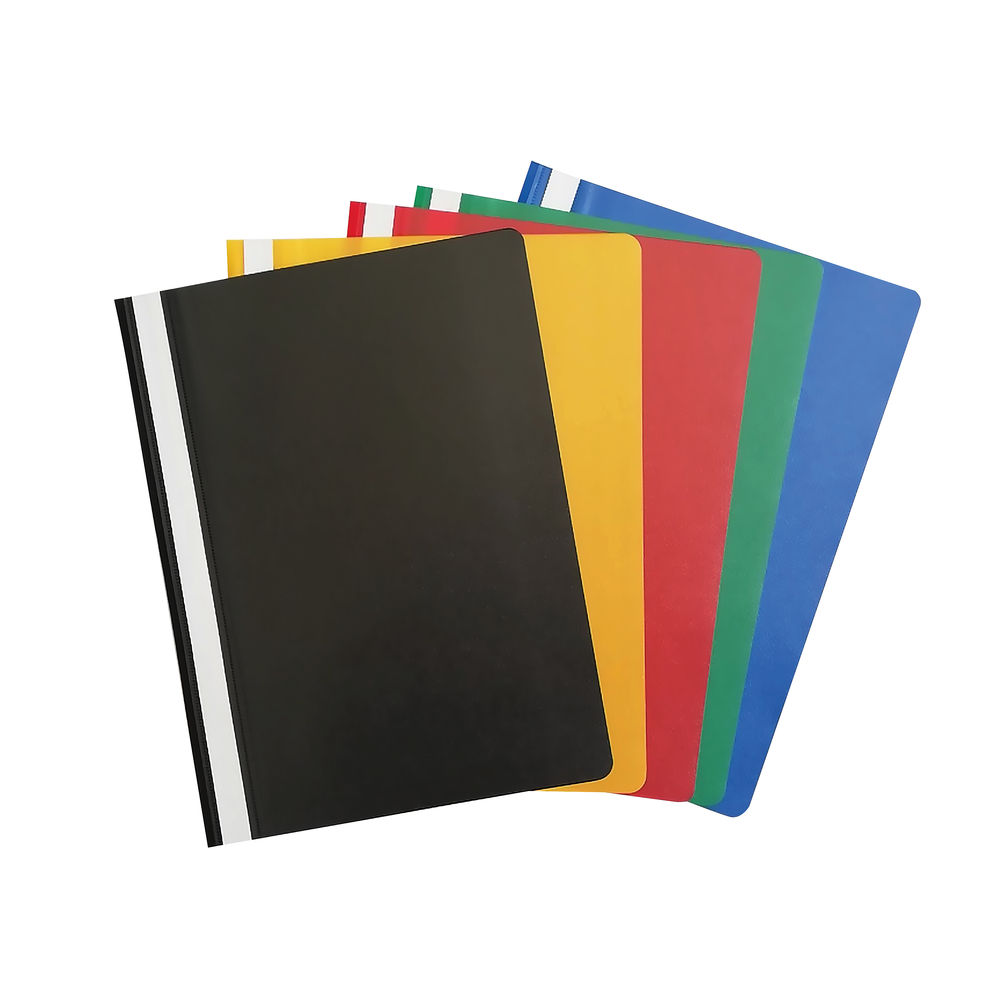 Assorted A4 Project Folders, Pack of 25 - PM22390