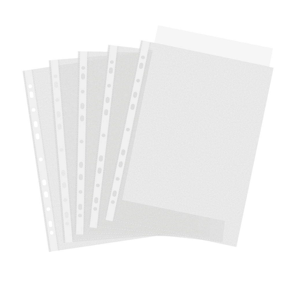 A4 Embossed Punched Pockets, Pack of 100 - PM22539
