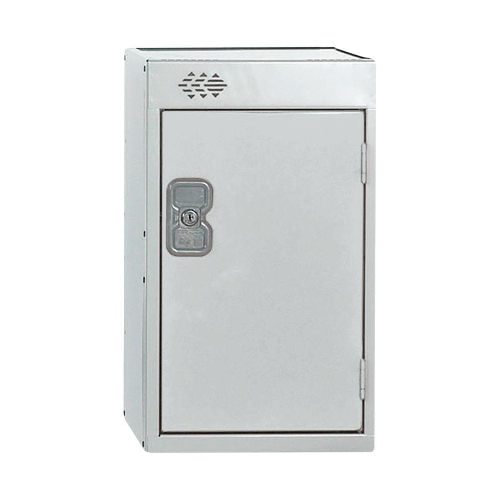 One Compartment D450mm Light Grey Quarto Locker - MC00080