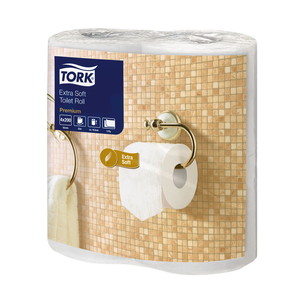 Tork White 2-Ply Extra Soft Toilet Rolls, Pack of 40 - 120240