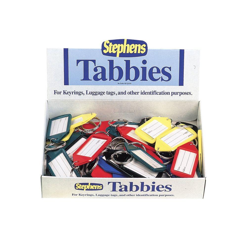 Stephens Assorted Tabbies Keyrings Display, Pack of 50 - RS521211