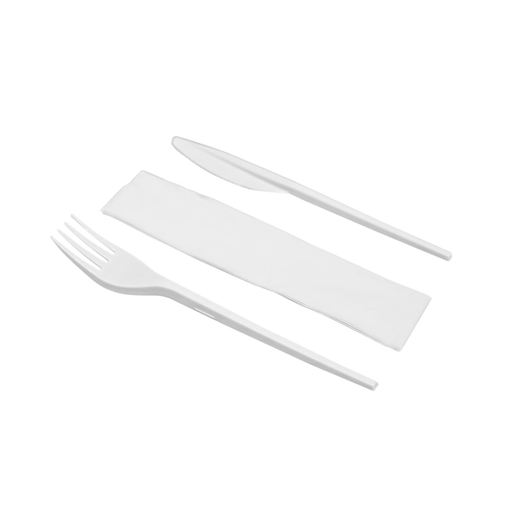 Knife Fork and Napkin Meal Pack (Pack of 250) MEALPACK3