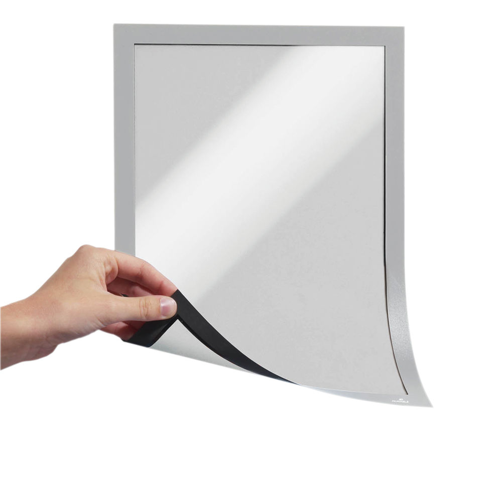 Durable Magnetic Duraframe A4 Silver (Pack of 5) 486923
