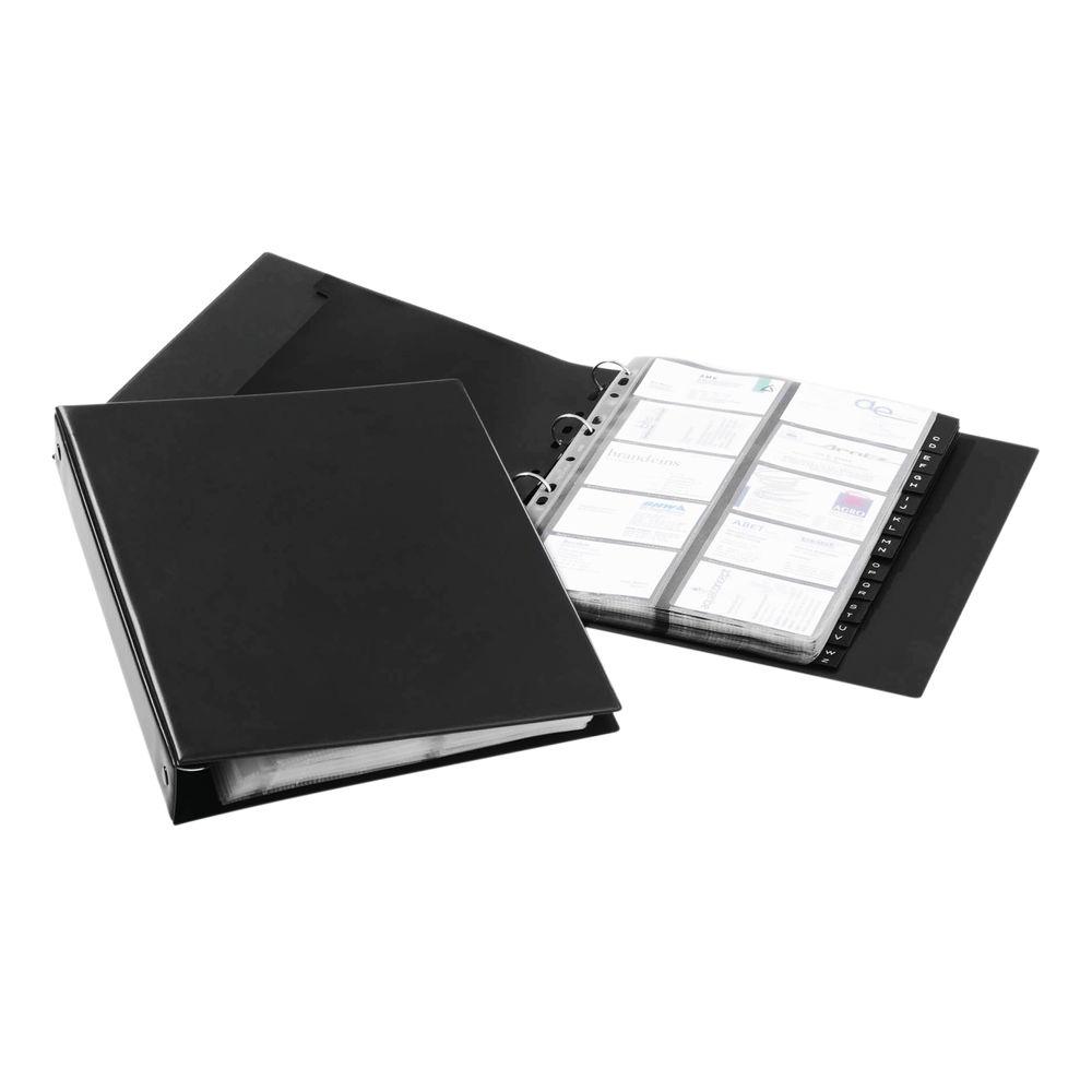 Durable Visifix A4 Economy Black Business Card Album - 2444/01