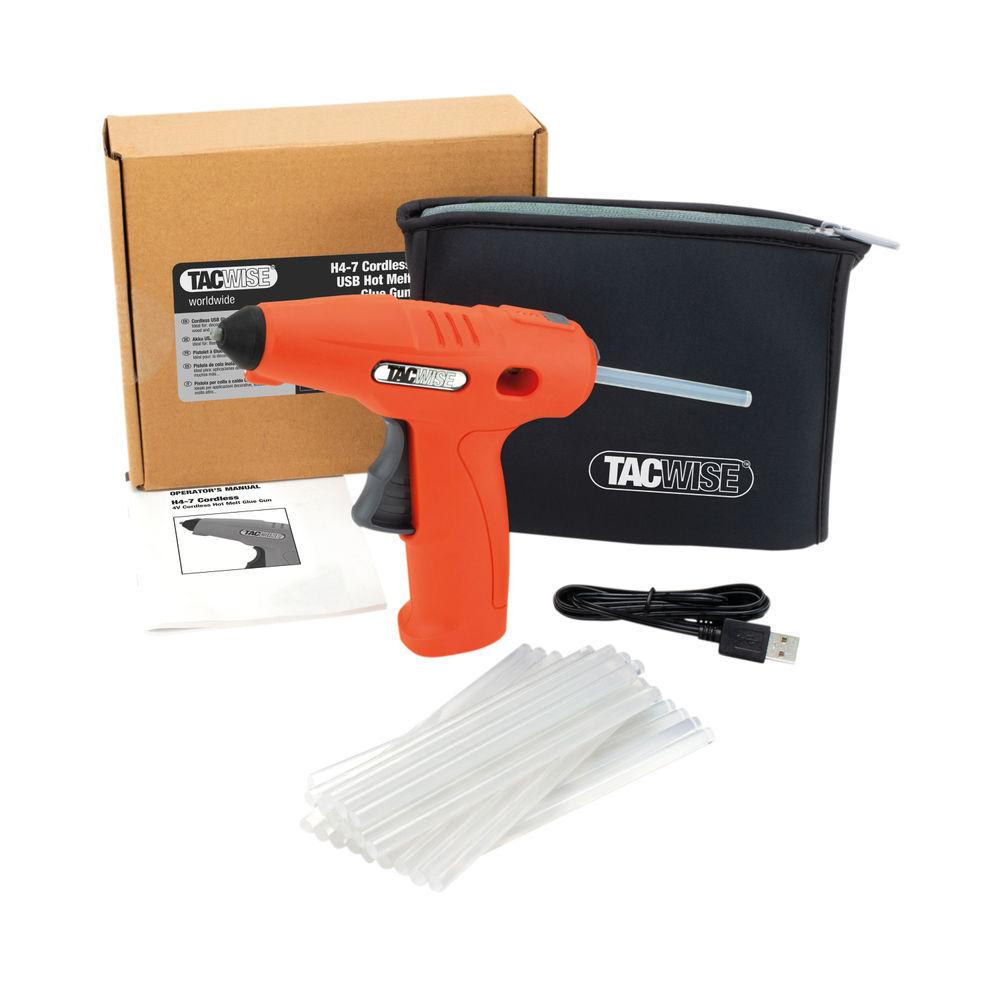 Tacwise H4-7 Cordless Hot Melt Glue Gun 4V with Pk30 Glue Sticks 1559