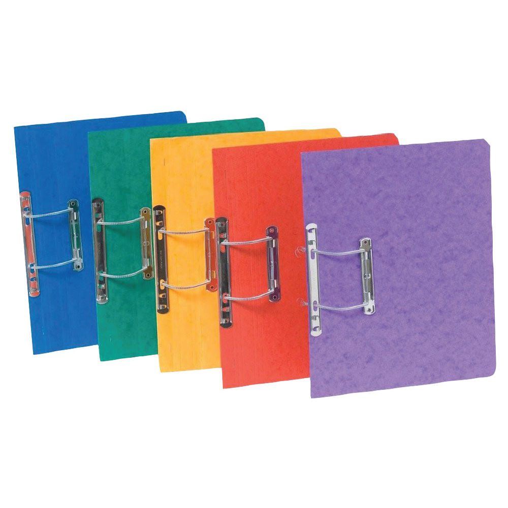 Exacompta Europa Spiral Files A4 Assorted (Pack of 25) 3000