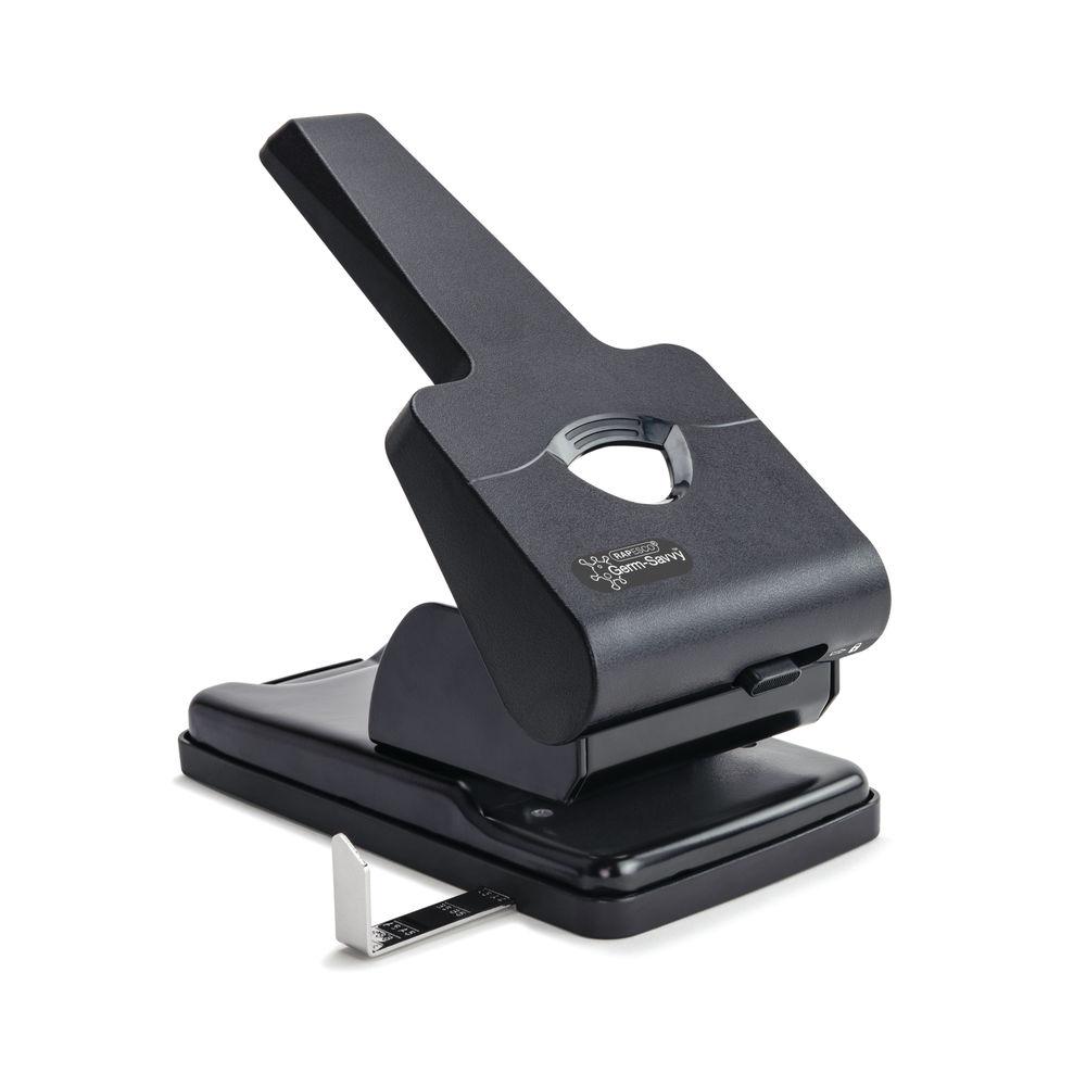 Rapsesco Germ-Savvy 865-P 2-Hole Perforator Heavy Duty Black 1631