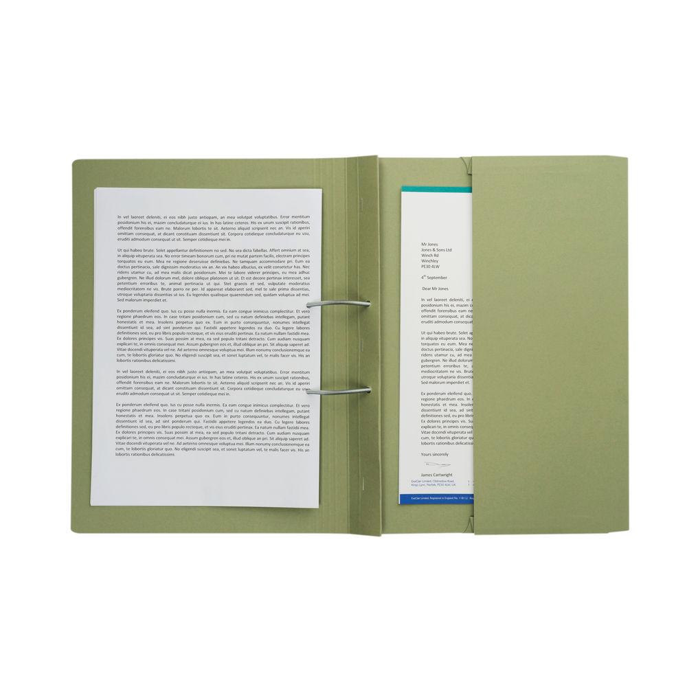 Green Foolscap 285gsm Pocket Spiral Files, Pack of 25 - TPFM-GRNZ