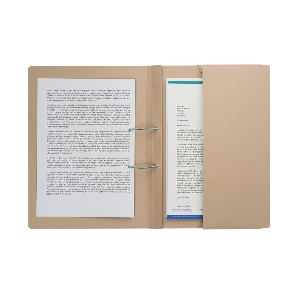 Buff Foolscap 285gsm Pocket Spiral Files, Pack of 25 - TPFM-BUFZ