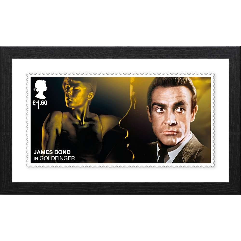 The James Bond Framed Goldfinger Stamp Print