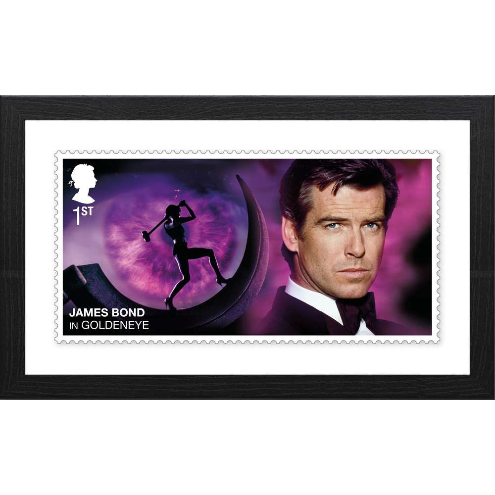 The James Bond Framed GoldenEye Stamp Print