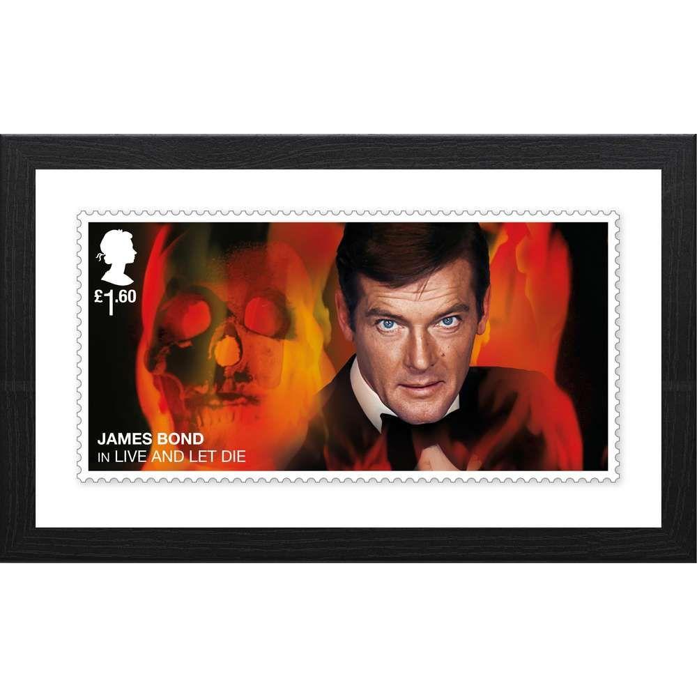 The James Bond Framed Live and Let Die Stamp Print